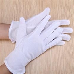 Перчатки хлопковые с ПВХ